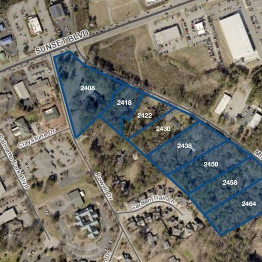 Mineral Springs Development Aerial